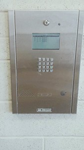 Mircom TX3 flush mounted intercom
